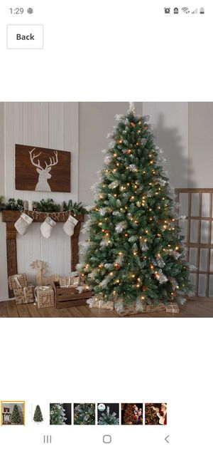 OasisCraft Pre-lit Snowy Aspen Spruce Christmas Tree 7.5 Foot & 500 Light for Sale in Santa Ana, CA