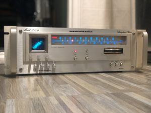 $950 Vintage Marantz Model 2110 AM/FM Stereo Tuner ~SERVICED, LED UPGRADE, RACK HANDLES !~ LOOK ! for Sale in New Hyde Park, NY