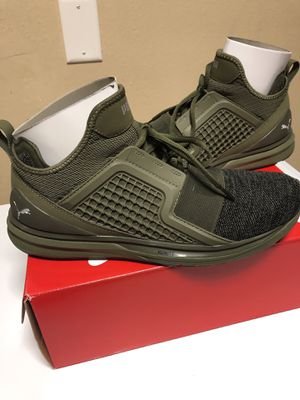 PUMA IGNITE LIMITLESS KNIT - SIZE 11 (OLIVE NIGHT-PUMA BLACK) - MEN'S SHOES for Sale in Wahneta, FL