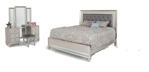 Diva bedframe mattress and vanity for Sale in Lochbuie, CO