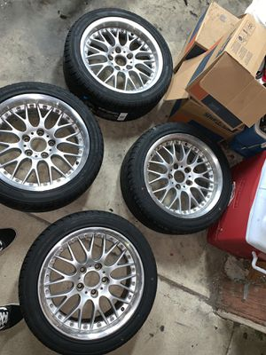 Bbs Bmw rims 17x8 Comes with new tires for Sale in Anaheim, CA