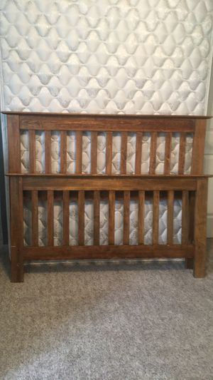 Full size mattress and headboard/footboard + nightstand for Sale in Austin, TX