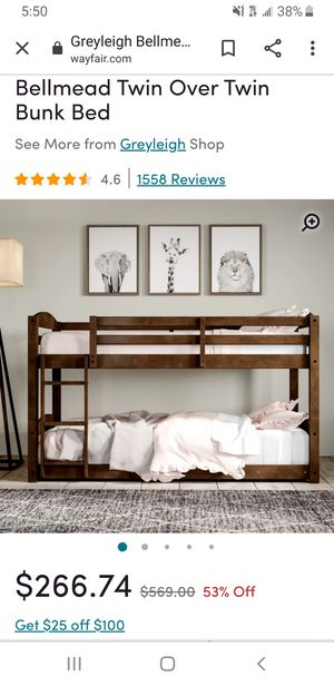 Bellmead twin over twin bunk bed. for Sale in San Diego, CA