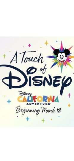 Two tickets For 4/8 For a Touch Of Disney $250 For Both for Sale in Newport Beach,  CA