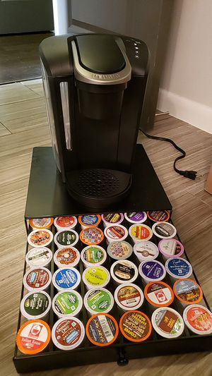 Keurig with stand/drawer and K-cups for Sale in Houston, TX