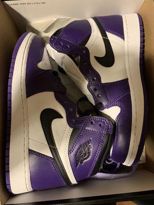 Air Jordan 1 court purple size 4y for Sale in Dallas, TX