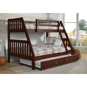 Cappuccino twin full bunkbed for Sale in Delran, NJ