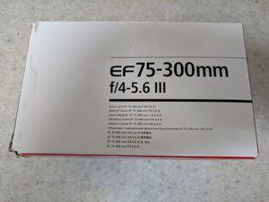 Brand New Canon EF 75-300mm lens for Sale in Harrison, NJ