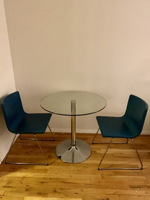 Wayfair Glass Table and Ikea Chairs for Sale in New York, NY