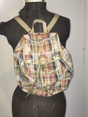 Coach plaid Signature backpack for Sale in Concord, CA