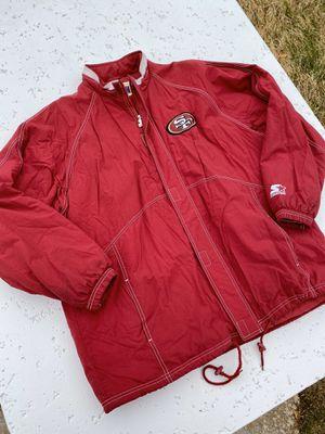Vintage Starter San Fransisco 49ers parka jacket for Sale in Las Vegas, NV