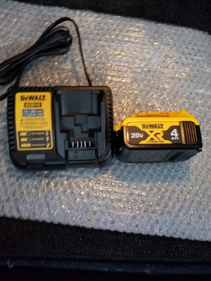 New dewalt 20v MAX XR battery and charger for Sale in Ashburn, VA