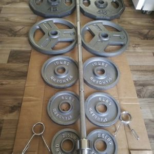 265 lb Weight Lifting Set for Sale in Portland, OR