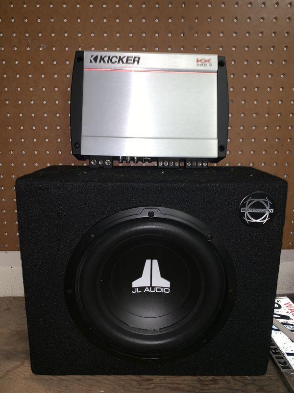 Amplifier: Kicker 400.4 and JBL Subwoofer