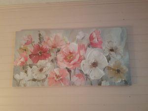 Large flower canvas for Sale in Virginia Beach, VA