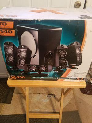 X-530 5.1 LOGITECH SURROUND SOUND SYSTEM for Sale in Norfolk, VA