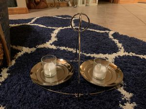 Silvertone candle holder for Sale in Heber, AZ
