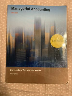 Managerial accounting book with notes for Sale in Las Vegas, NV