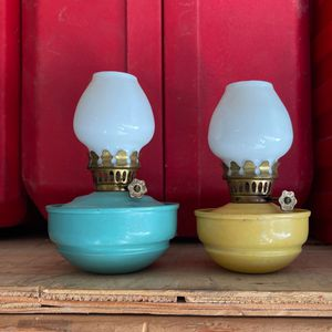 Vintage mini oil lamp burners with wick both for $30.00 for Sale in Los Angeles, CA