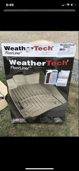 WeatherTech Front Floor Mats - Tan- Brand New for Sale in Snohomish, WA