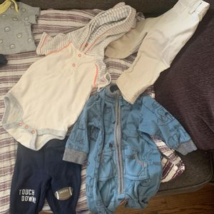 Baby Boy Clothes New born, 0-3, 3 month Boy Clothes And Brand New Box Pamper Diapers Size 2 for Sale in Whittier, CA