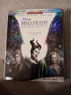 Maleficent-Mistress of Evil (Blu ray+Dvd+Digital+SlipCover) New Sealed for Sale in Hamlet, IN