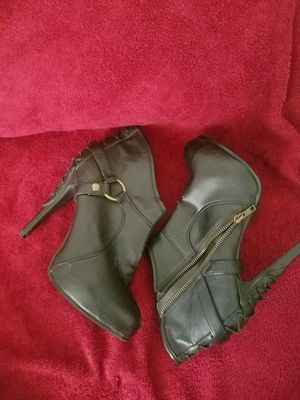 Black Leather Heels for Sale in Bladensburg, MD