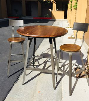 World Market Bar counter height Dining table set with 2 matching chairs for Sale in San Diego, CA
