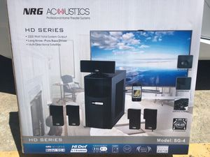 NRG 2200 Watt Home theater speaker system for Sale in Chicago, IL