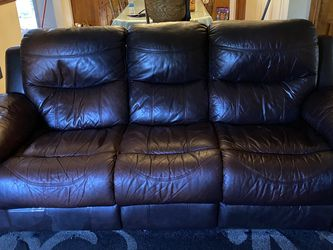 Used leather couch reclinable for Sale in Baldwin Park,  CA
