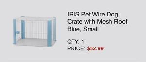 Blue Pet Crate Small for Sale in Houston, TX