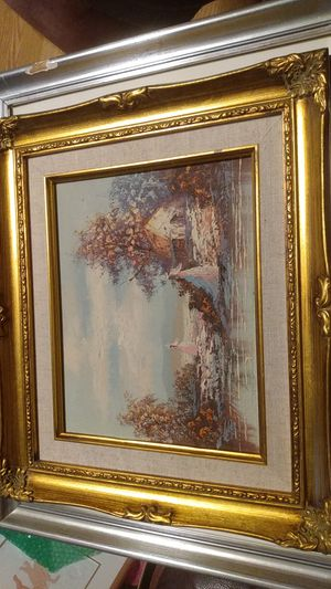 Oil painting with signed artist for Sale in Anderson, SC