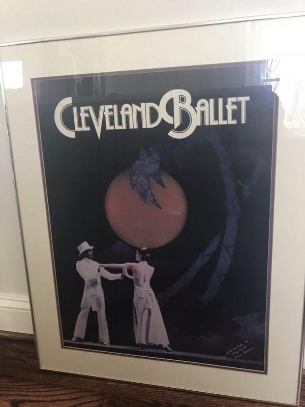 Framed lovely ballet poster