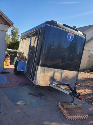 Enclosed Cargo Trailer 5 x 8, hardly used. We just used it to move from Idaho. Almost brand new. I have it at parent's place in West Phoenix. for Sale in Phoenix, AZ