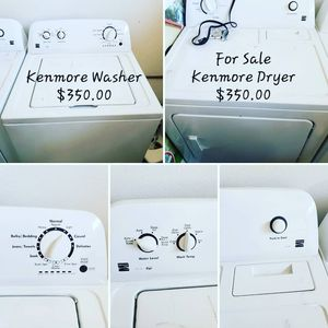Kenmore washer and dryer $700 or best offer for Sale in Moreno Valley, CA