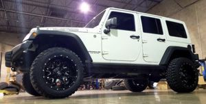 Fuel 20x12 WHEELS & 35x12.50-20 Tires ,For your Jeep Wrangler Rubicon Unlimited Sahara gladiator JT JK JL ( we Finance ) for Sale in Phoenix, AZ