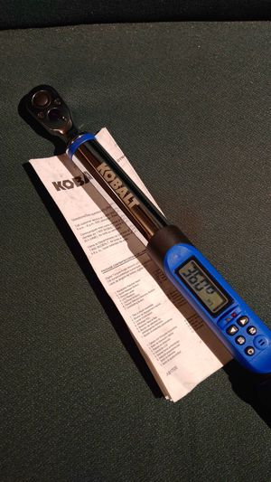 Kobalt electronic torque wrench new open package for Sale in Marysville, WA