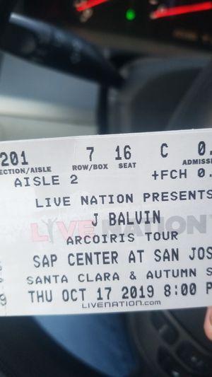 J balvin tickets for Sale in Sacramento, CA