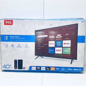 "New Other TCL 40S325 40"" 1080p Smart LED ROKU TV, Black for Sale in Dallas, TX"