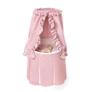 Badger Basket Empress Round Bassinet in Pink/White for Sale in Las Vegas, NV