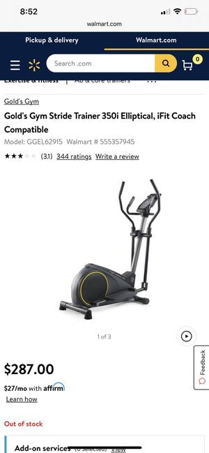 Elliptical- golds gym stride trainer for Sale in Baltimore, MD