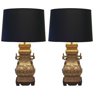 Antique brass bronze Chinese lamps for Sale in Dallas, TX