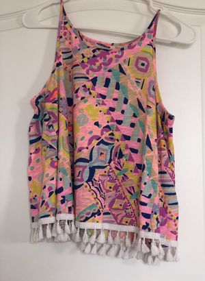 Lilly Pulitzer tank with fringe detail size small for Sale in Royal Palm Beach, FL