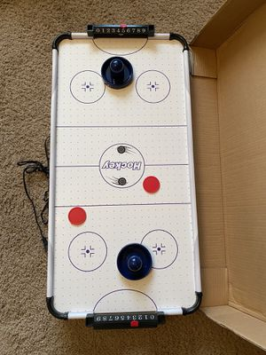 "Table top Air Hockey table Brand new, never used. 32"" x 16"" for Sale in Waddell, AZ"