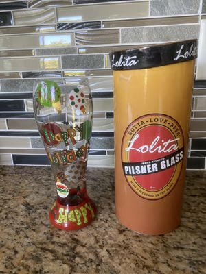 Lolita Holiday Hand painted Pilsner beer glass for Sale in Ladera Ranch, CA