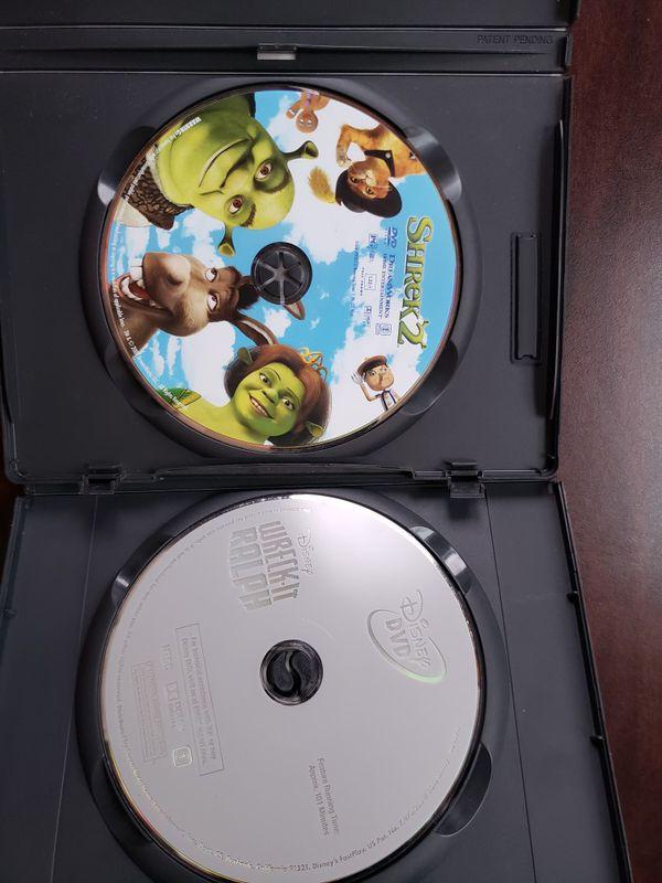Shrek 2 and Tangled dvds