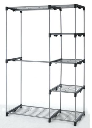 metal closet rack with shelves for Sale in Arlington, VA