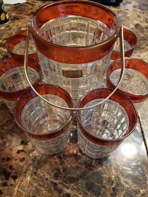 Vintage Collectible Italian Lubrianna Glass set for Sale in North East, MD
