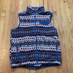Patagonia Synchilla Vest Mens Size XL Aztec Tribal Fleece Fair Isle Snap T - Zip for Sale in Pelham, NH