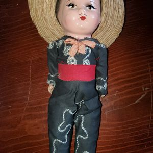 Vintage 1940's Composition Mexican Boy Doll 8 inches tall. for Sale in McHenry, IL